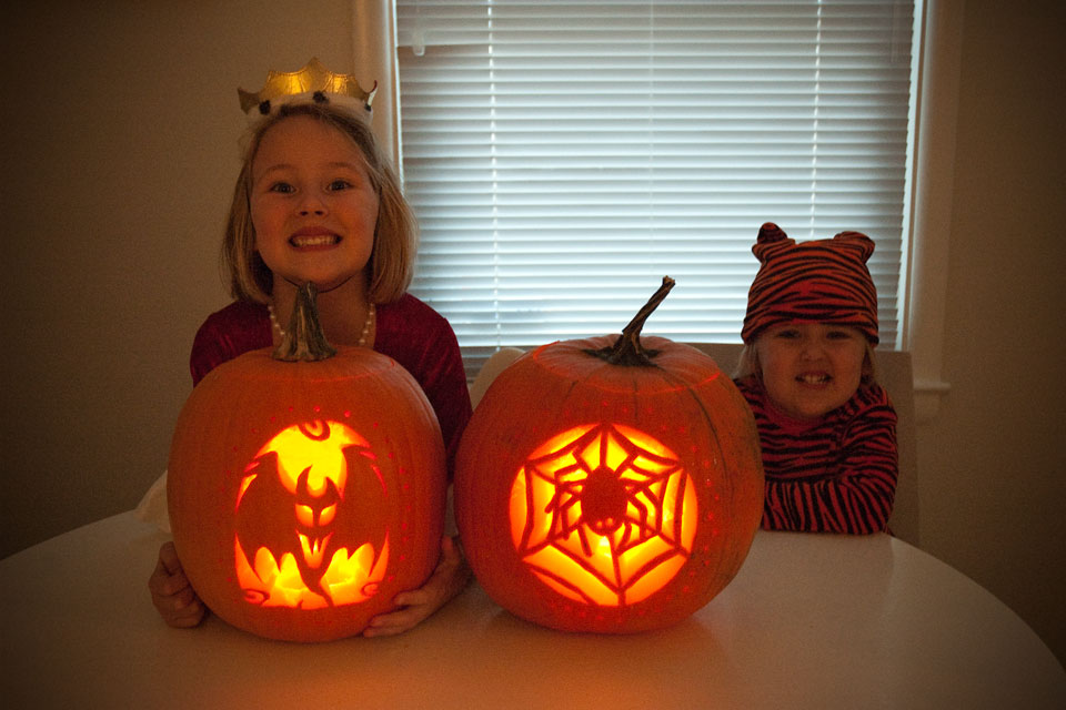 The Girls With Their Pumpkins